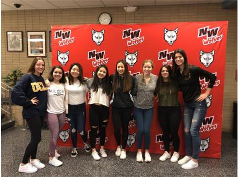 State Send-Off - Lian with her teammates as they wish her good luck at the state meet!