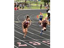 Gianna Cameron set the school record in the 200 at the regional meet qualifying for the finals. Her time: 25.97 Gianna also qualified for the finals in the 100 meter dash and will also compete in the LJ.