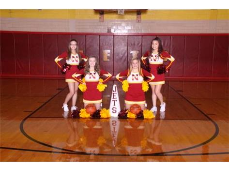 Winter Junior Varsity Cheerleaders