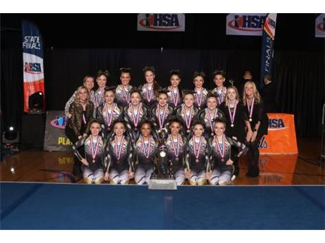 Varsity Cheer 3rd Place IHSA State 2017