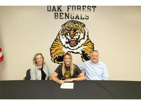 Sabrina signed letter of intent to Quincy University.