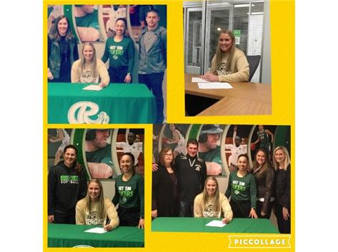 Taylor Sterkowitz signed letter of intent to Roosevelt University.