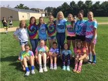 The Eagles decided to fire themselves up by dressing in tie-dye before their match in Polo.