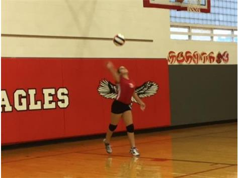 Gracen Pitts has a powerful serve.