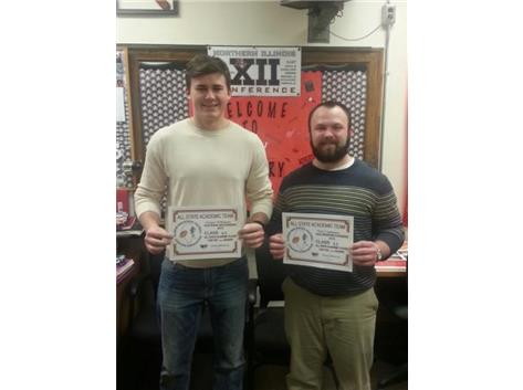 Cooper Wilkinson and Nic Coglianese Football Academic All-State.