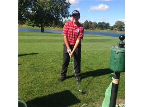Andrew Evola teeing it up at Conference Golf!