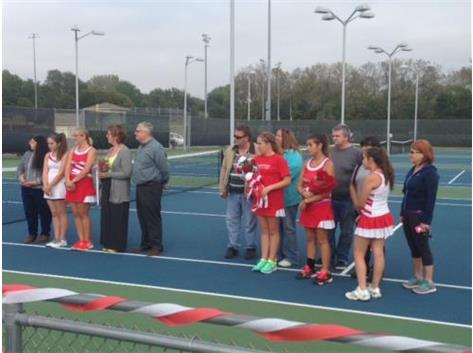 Senior Night for Girls Tennis