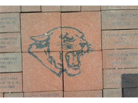 Athletic Boosters Paver Project. Bricks are engraved and placed at the main entrance to the football field. For more information, contact Bryan Schoenleben at posie208@yahoo.com