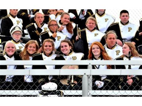Marching Band Supporting the Panthers
