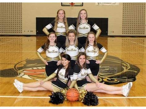 2015-2016 Varsity Basketball Cheerleaders