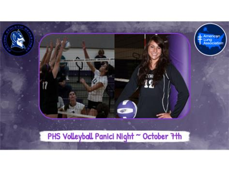 The PHS Annual Panici Night is this evening (10/7)! The PHS Volleyball team honors PHS alumni Lisa Panici who went on to play volleyball at the University of Wisconsin-Whitewater. Lisa passed away in December 2012 after a two-year battle with brain cancer.  Tonight PHS will be raising funds for the American Lung Association. Please come out for Panici Night! Games begin at 5:00.