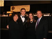 The Weimars: Tina, David, Kristen, Glenn.  Weimar, a team captain this year, was named OCC Scholar-Athlete of the year for 2014. Congratulations David!  Go Tigers!!!