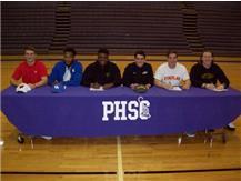 (l to r) Seth Currens-Wisconsin, Jaylin Bannerman-Kentucky, Brandon Burks-Tiffin, Noah Burk-Ohio Dominican, Drew Hawley-Findlay, Drew Cockerham-West Liberty