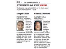 ELLISON NAMED DISPATCH PLAYER OF THE WEEK - 11/19/16