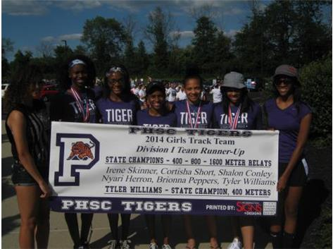 Tiger Girls 2014 Runner-up Division I Track Championship