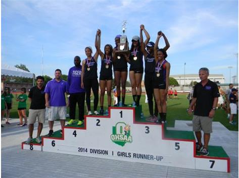 Tiger Girls Take 2nd in 2014 State Track Championship