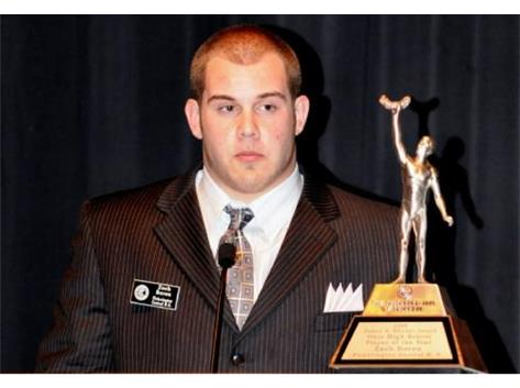 ZACH BOREN-TD CLUB OF COLUMBUS 2008 PLAYER OF THE YEAR