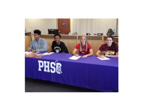 Congratulations to (l to r) Ibi Watson, Jalen Tate, Andrea Farrah and Lexi Stuck, who signed their national letters of intent today. Andrea will continue her academic and softball career at Ohio State; Lexi will play lacrosse at the University of Charleston; Jalen will play basketball at Northern Kentucky and Ibi is headed to the University of Michigan for basketball. Congratulations Tigers!