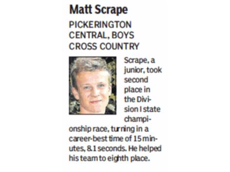 MATT SCRAPE RECEIVES DISPATCH RECOGNITION
