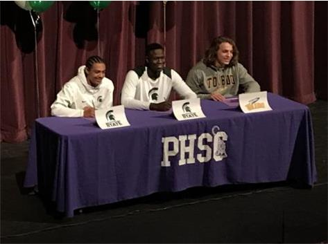 (l to r) Xavier Henderson & Trenton Gillison to Michigan State & Alex Morgan to Toledo.