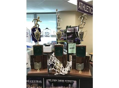 GOOD THINGS HAPPEN IN THREES: 2017-18 STATE CHAMPIONSHIPS - FOOTBALL, GIRLS BASKETBALL, BOYS TRACK & FIELD