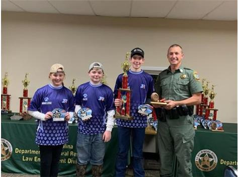 Anneleise, Mack and Robert Win First Place in the SCNDR Middle School Division