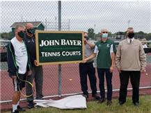 Congratulations to Coach Bayer for all his years of dedication to Plainfield Central as Boys/Girls Tennis Coach