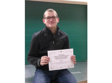 Jack Plewa~Athletic Booster Fall 2016 Concession Volunteer Award