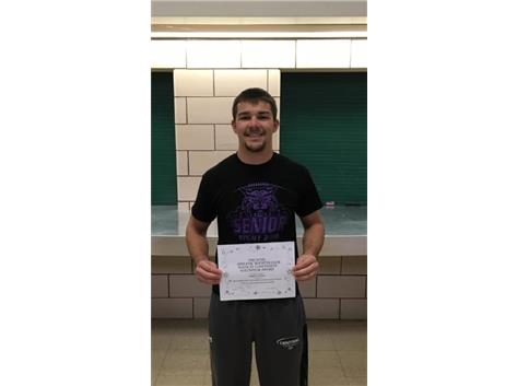 Kamrin Dolbee~Athletic Booster Winter 2016-17 Concession Volunteer Award