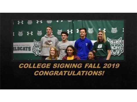 2019 FALL COLLEGE SIGNING