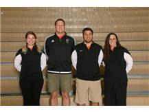 Boys Soccer Coaches Emily Petrus, Carl Grubb, Cosimo Patano, Lisa Simon