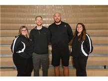 Girls Volleyball Coaches Rachel Cialoni, Kurt Dolson, Jeff Wilkie, Lexi Warnecke