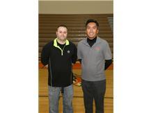 Girls Bowling Coaches Bob Nelson, Dominic Del Rosario
