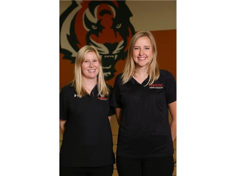 Girls Cross Country Coaches Julie Lotarski, Cassie May