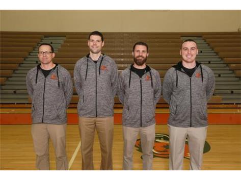 Boys Track Coaches Rich Gatz, Mike Adamson, Braden Kass, Tyler Hill