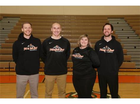 Boys Volleyball Coaches Kurt Dolson, Alex Rodriguez, Rachel Cialoni, Brad Snider