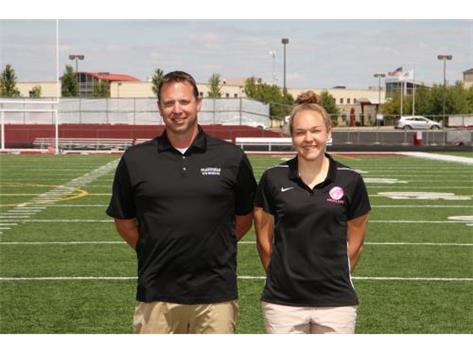 Girls Swim Coaches George Sam, Nicole Olsen
