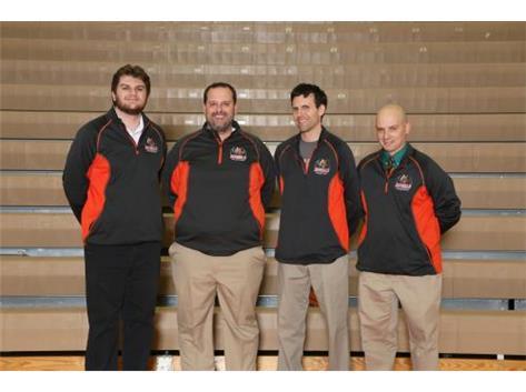Girls Basketball Coaches Ryan Ferrin, Tony Waznonis, Mike Schmitt, Rick Tymm