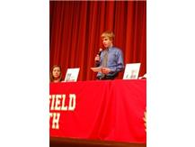 Alex Netzel make his National Letter of Intent speech.