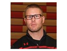 Assisting Wrestling Coach and Assistant Athletic Director Joe Pope.