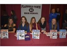 National Signing Day Megan Breier, Brittaney Kroll, Jessica Christmas, Megan Donnaly and Erin Kuyawa -Soccer