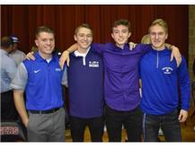 National Signing Day Nick Anwweiler, Jake Farley, Jackson Ranck and Cade Fink - Soccer
