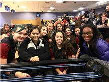The girls waiting for awards to start