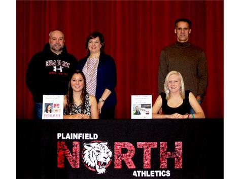 National Letter of Intent Signing Day Fall 2013 - Katlyn Federico and Taylor Willhalm
