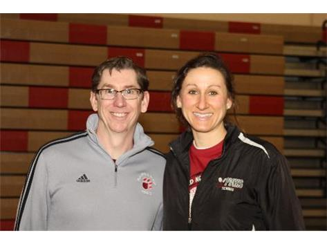 2014 Boys Tennis Coaching Staff:  Head Coach Jim Walter & Head JV Coach Lauren Madawick