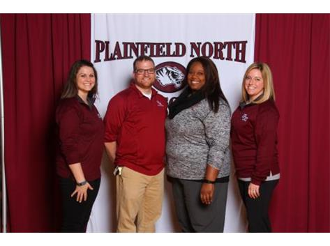 2016 Boys Volleyball Coaches Kate Sauerwein, Anthony Dellamorte, Tracey Marshall and Kari Collins