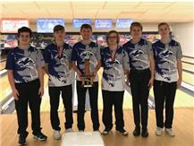 Varsity Team Champions at the Minooka Invite 12-1-18.  Austin Griffith was the tournament champion averaging a 247!