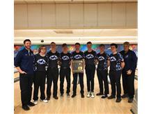 Coach Zettergren, Coach Schultz, and the Boys Bowling Team wins the 2019 IHSA Regional Championship!