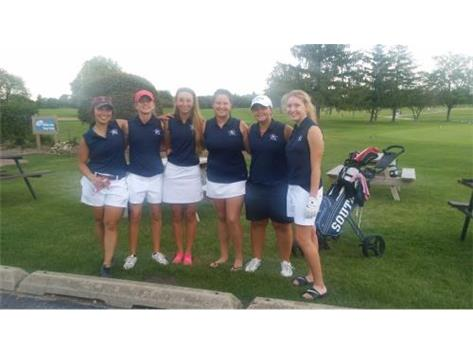 Girls pose after a close match to Minooka on August 30th.