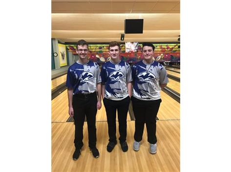 SPC JV Tournament Top finishers: Anthony Pagoria, Sean Scaglione, Jaden Boardman (1-5-19)